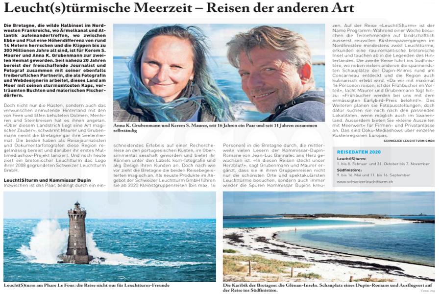 Anzeiger von Saanen - 2. August 2019 - Schweizer Leuchtturm GmbH - Bretagne-Reisen