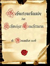 Urkunde Unternehmen - Schweizer Leuchtturm GmbH