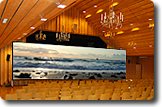 Show Konzept - Leinwand im Saal - Schweizer Leuchtturm GmbH